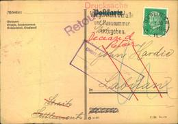 1930, Druckschenkarte Ab BERLIN SW 11 Nach LABUAN (Malaya) Adrfessiert, Und Zurück. - Cartas
