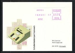 FRANCE 1981: LSC Avec Vignette D'affr. De 1,70F De Breteuil (Oise) Pour La Suisse - Ohne Zuordnung