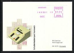 FRANCE 1981: LSC Avec Vignette D'affr. De 1,70F De Liancourt (Oise) Pour La Suisse - Ohne Zuordnung