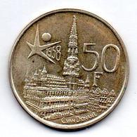 BELGIUM, 50 Francs, Silver, Year 1958, KM #150.1, DES BELGES - 08. 50 Francs