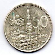 BELGIUM, 50 Francs, Silver, Year 1958, KM #151.1, DER BELGEN - 08. 50 Francs