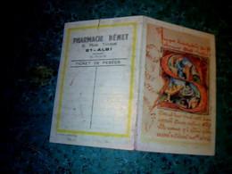 Vieux Papier Calendrier  Petit Format Pharmacie Benet à Albi Année 1970 Thème Imprimerie - Small : 1961-70