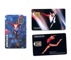 Lot 3 Carte Gymnastique à Voir - Sport
