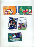 Lot 5 Carte Football Coupe Du Monde Lotto - Sport