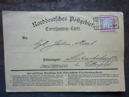 1872   Karte  PERFECT  MULHAUSEN   Used - Covers & Documents