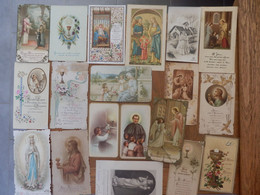 (32)   Lot De 19 Images Religieuses - Santini