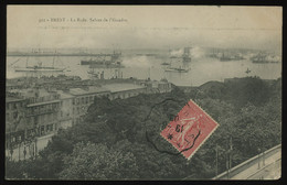 TREASURE HUNT [01582] France 1906 Picture Post Card (Brest) Sent To Tonkin (Vietnam) Bearing Sower 10c Carmine - Lettres & Documents