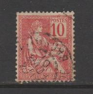 Mouchon: 10c Rouge N°112 - 1900-02 Mouchon
