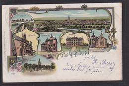NBL3 /     Litho Gruss Aus Genthin M. Post Um 1900 B. Brandenburg Havel - Genthin