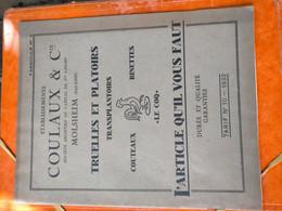 Catalogue établissement Coulaux à Molsheim Bas Rhin - Collections