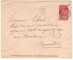 N 019Briefomslag 10c Uitgifte 1893 Malines Naar Bruxelles - Ohne Zuordnung