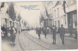 Vilvoorde - Aankomst Eerste Tram In De Leuvense Straat (gelopen En Geanimeerde Kaart Met Zegel) - Vilvoorde
