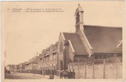 Vilvoorde - Hovenierstraat En Sint-Antoniuskerk (gegy Nr 22) (gelopen Kaart Zonder Zegel, Militair Gebruik) - Vilvoorde
