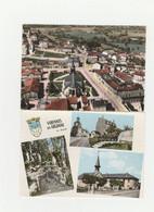 4 CPM:VARENNES EN ARGONNE (55) CENTRE,PONT L'AIRE,VUE..ÉCRITES - Other Municipalities
