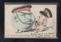(11/09/21) ILLUSTRATEUR SIGNE - H.MULLER - LE POT DE FER ET LE POT DE TERRE - GUERRE RUSSO JAPONAISE - SATIRIQUE - Otros Ilustradores