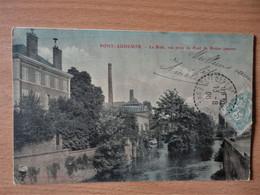 CPA PONT AUDEMER - La Risle, Vue Prise Du Pont De Rouen - 1906 - Pont Audemer