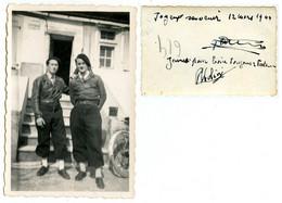 Photographie De 2 Soldats -  1944 - Voir Scan RV - Guerra 1939-45