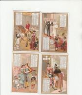 4 CHROMO LIEBIG REPRÉSENTANT  CALENDRIER MARS AVRIL MAI JANVIER 1893 - Liebig