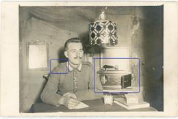 Allemande Carte Photo - Deutsche Soldaten Grammophon Polyphon Telephon? Regiment Nr.262 Flandern -  WWI 14/18 - 1914-18