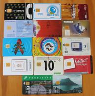 LOT DE 14  TELECARTES DE DIFFERENTS PAYS - Sammlungen