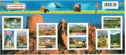 2008: Régions Francaises (Aude,Indre & Loire,Côtes D'Armor,Yonne,Calvados,Vendée,etc) Bloc-feuillet Neuf ** # BF117 - Mint/Hinged