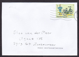 Netherlands: Cover, 2021, 1 Stamp, Bicycle, Electricity, Transport, Environment, Innovation (traces Of Use) - Covers & Documents