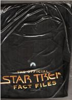 "Tee-Shirt ""The Official STAR TREK Fact Files"", Neuf Sous Blister. Paramount, Kirk, Spock, Picard, William Shatner, Nimoy - Altri"