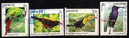 P201B - PANAMA - 1981 - SC#: 610-613 - USED - BIRDS - Panamá