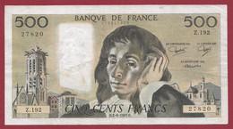 """France 500 Francs """"Pascal"""" Du 02/06/1983.H--ALPH.Z.192 -- .dans L 'état (P.183) - 500 F 1968-1993 ''Pascal''"""
