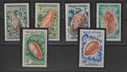 Wallis Et Futuna 1962-63 Coquillages 162-167 6 Val ** MNH - Unused Stamps