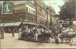 PARIS  - ( Le TOUT PARIS )  - Marchandes De Fleurs - Carrefour De Belleville - COLORISEE - District 20