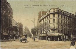PARIS  -XIIIe Arr. - Carrefour Des Avenues De Choisy Et Rue De Tolbiac -TOILEE Et  COLORISEE - District 13