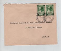 REF4984/ TP 460 (2) Antituberculeux Surtaxe C. Gembloux Capitale Coutellerie 16/12/37 > Louvain - Storia Postale