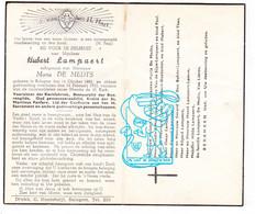 DP Gemeenteraadslid - Hubert Lampaert ° Balegem Oosterzele 1883 † 1953 X M. De Medts / Van De Sijpe Van Lierde Quatacker - Andachtsbilder