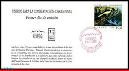 Ref. MX-2243FD MEXICO 2001 ANIMALS, FAUNA, UNITED FOR CONSERVATION,, BIRD, CHARA PINTA, MI# 2941, FDC 1V Sc# 2243 - Sperlingsvögel & Singvögel