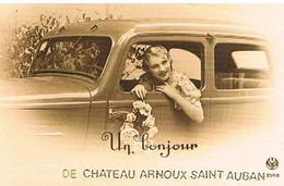 04  UN BONJOUR      DE  CHATEAU  ARNOUX  SAINT AUBAN   CPM  TBE   909 - Autres Communes