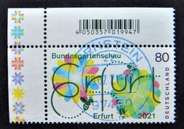 "Bund/BRD April 2021,  Sondermarke ""Bundesgartenschau Erfurt"" MiNr 3600, Ecke 1, Gestempelt - Gebruikt"
