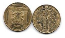 Médaille  ARTHUS  BERTRAND, MUSÉ  GRÉVIN  Cabinet Fantastique-Palais Des Mirages  Verso  Chanteur  JOHNNY  HALLYDAY - Unclassified