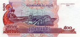 CAMBODIA P. 54b 500 R 2004 UNC - Kambodscha