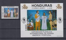 Honduras Michel Cat.No. Mnh/** 1011 + Sheet 48 - Honduras