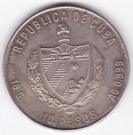 CUBA. 10 Pesos 1980 Jeux Olympiques Moscou. En Argent . KM# 51. 10 000 Exemplaires - Cuba