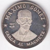 Cuba 20 Pesos 1977 Maximo Gomez, En Argent . KM# 39, Superbe - Cuba