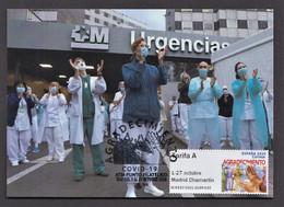 14.- SPAIN 2020 MAXIMUM CARD THANKS TO THE MEDICINE - DISEASE COVID 19 - Krankheiten