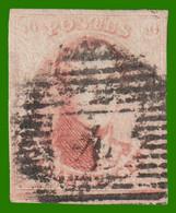 N°8b - Carmin Rose Pâle - Cotelé Horizontal - 4 Belles Marges - 1851-1857 Medallions (6/8)
