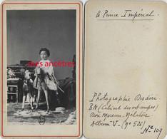 CDV Le Prince Impérial Fils De  Napoléon III Sur Son Cheval Jouet-cliché Bibliothèque Nationale - Oud (voor 1900)