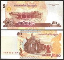 Cambodia - 50 Riels 2002 Pick 52 UNC Lemberg-Zp - Kambodscha