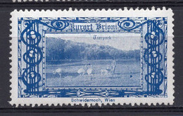 1913. AUSTRIA,AUSTRIAN ADRIATIC,VIENNA EXHIBITION,BRIONI,CROATIA,CINDERELLA,POSTER STAMP,MH,ZOO - Nuovi
