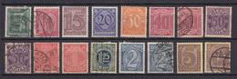 Deutsches Reich - 1920 - Dienstmarken - Michel Nr. 23/33 - Gestempelt/Ungebr. - Officials