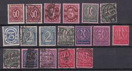 Deutsches Reich - 1921/23 - Dienstmarken - Gestempelt/Ungebr. - Officials