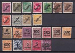 Deutsches Reich - 1923 - Dienstmarken - Ziffern - Gestempelt/Ungebr. - Officials